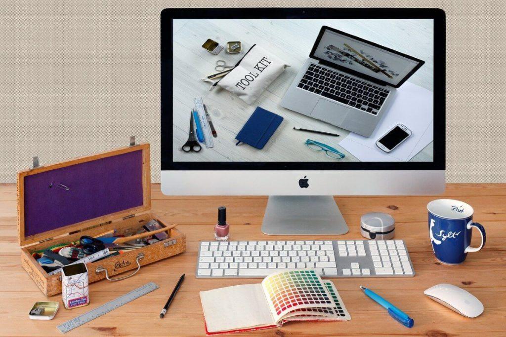 diseñando un logo en una mac