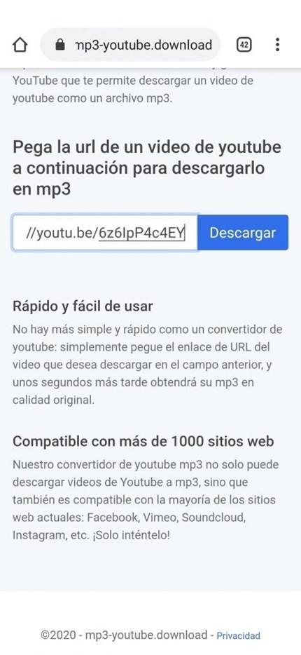 captura de pantalla de Guía para descargar vídeos